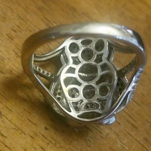 Sterling silver penguin ring